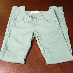 Rewind mint green skinny jeans